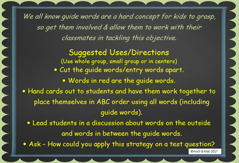 Interactive Guide Words - Unit 4 - 5 Lessons
