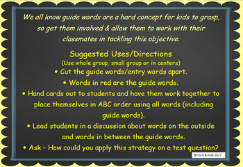 Interactive Guide Words - Unit 5 - 5 Lessons