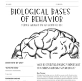 Interactive/Guided Notes | AP Psychology | Biological Bases of Behavior *Block