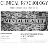 Interactive/Guided Notes | AP Psychology | Clinical Psychology *Block
