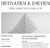 Interactive/Guided Notes | AP Psychology | Motivation & Emotion *Block