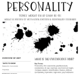 Interactive/Guided Notes | AP Psychology | Personality *Block