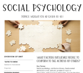 Interactive/Guided Notes | AP Psychology | Social Psychology *Block