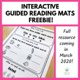 Interactive Guided Reading Mats FREEBIE! (For K-2)