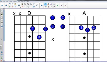 Interactive Guitar Chord Chart for SMART BOARD