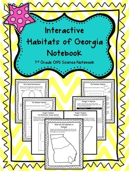 Interactive Habitats of Georgia Notebook! Aligned with 3rd Grade GPS !