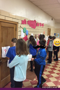 Interactive Hall Activity; Expanding Language:writing, expressive and receptive