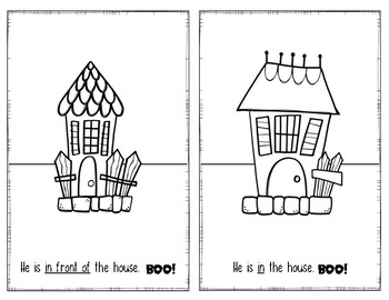 Interactive Halloween Emergent Reader: Where is BOO?  Positional Words Book