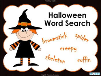 Interactive Halloween Word Search