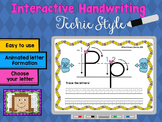 Interactive Handwriting - Techie Style