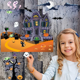 Interactive Haunted House Wall Play Set