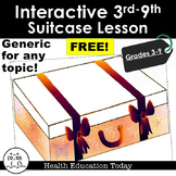 Interactive Lesson FREE!: Flip-Open Suitcase for Any 3rd-8th Grade