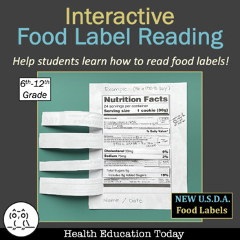 "Health Lesson: Interactive ""How to Read a Food Label Flip-Open""!"