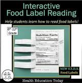 "Interactive Food Label Reading Lesson:"" Flip-Open"" Label Health Lesson"