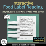 Interactive Food Label Reading Lesson: Flip-Open Food Label Health Lesson