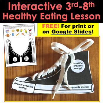 Interactive Lesson FREE!: Healthy Eating Tennis Shoe For Any 3rd-8th Teacher!