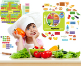 Interactive Healthy Eating Wall Play Set