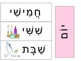 Interactive Hebrew Wall Calendar Months, Days, Date, Seaso
