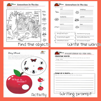 Interactive Hidden Picture Puzzles with writing prompts and activities