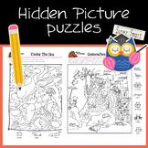 Interactive Hidden Picture Puzzles with writing prompts an