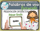Interactive High Frequency Words 1st Grade/Spanish Alphabet Order