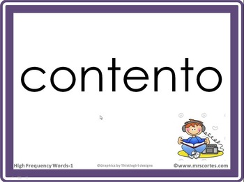 Interactive High Frequency Words 1st Grade/Spanish Random