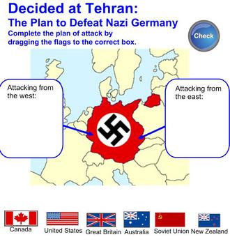 Interactive History Games -- Allied War Conferences, WWII
