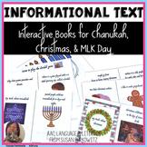 Interactive Vocabulary Holiday Books Christmas Hanukkah Ma