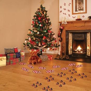 Interactive Holiday Footprints Wall Play Set