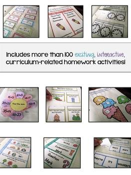 Interactive Homework Notebook {Grade 2}