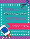 Interactive Homework Notebook {Grade 3}