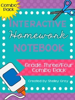 Interactive Homework Notebook {Grade 3/4 COMBO PACK}