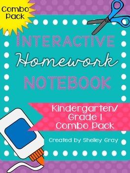 Interactive Homework Notebooks {Kindergarten-Grade 1 Combo Pack}
