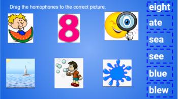 Google Classroom- Word Work: Interactive Homophones Activity