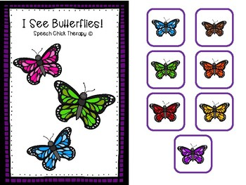 """Interactive """"I See Butterflies"""" Color Booklet"""