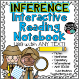 Interactive INFERENCING Reading Notebook * FREEBIE in PREV