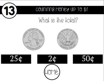 Interactive Identifying and Counting Coins and Bills to $1 {Special Education}