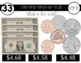 Interactive Identifying and Counting Coins and Bills to $5 {Special Education}