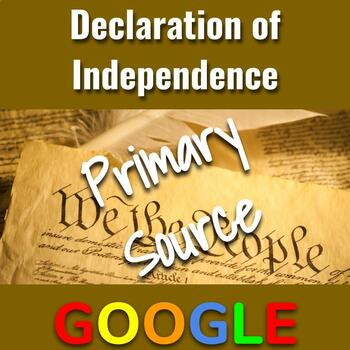 Interactive Image: Declaration of Independence (Primary Source Activity)