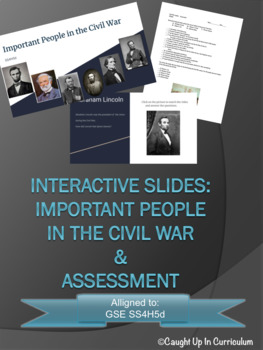 Interactive Important People in the Civil War GSE SS4H5d