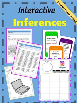 Interactive Inferences: Text dependent questions and extension activities