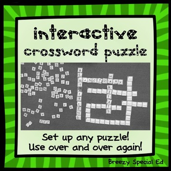 Interactive, Interchangeable Classroom Crossword Wall Puzzle (with Velcro)