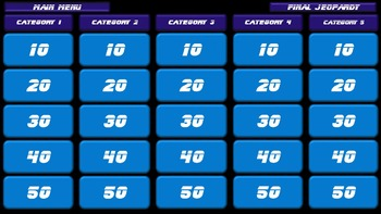 Interactive Jeopardy Review Template