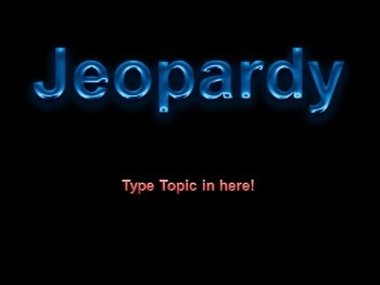 Interactive Jeopardy Template