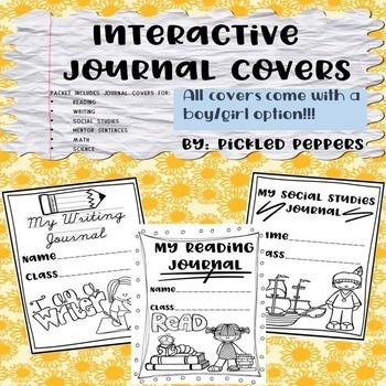Interactive Journal Covers