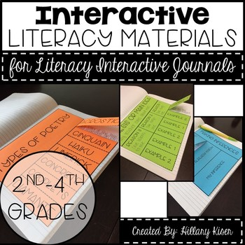 Interactive Literacy Journal Materials