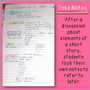Interactive Notebook Ideas for Writing