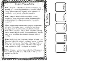 Interactive Journal Math Tabs