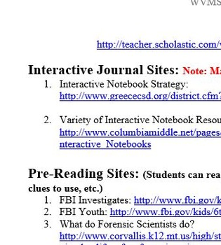 Interactive Journal Mystery Writing Module