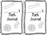 Interactive Math Journal Set Up/ Starter Kit